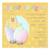 Lil chick Easter egg hunt invitation