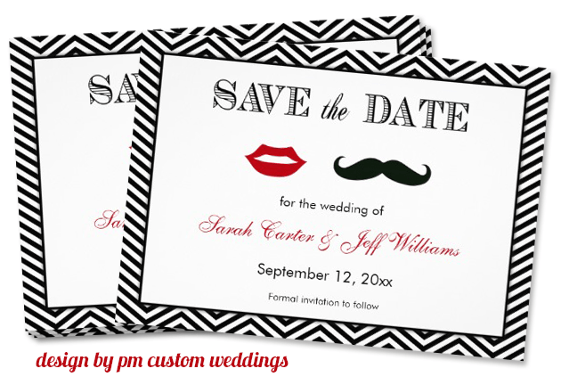 mustache trend | save the date invitation