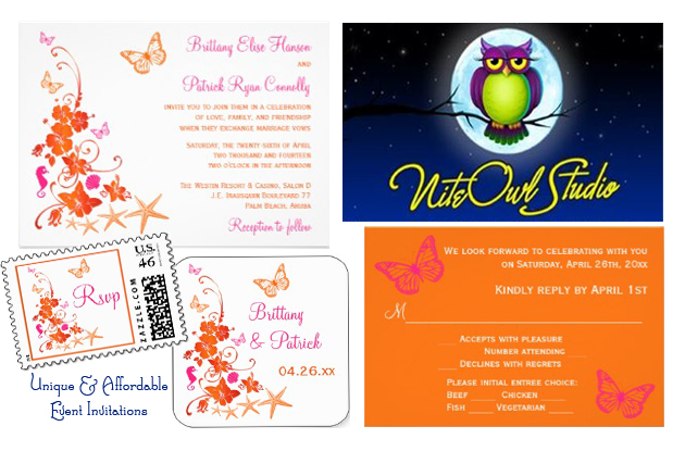 Nite Owl Studio Beach Invites