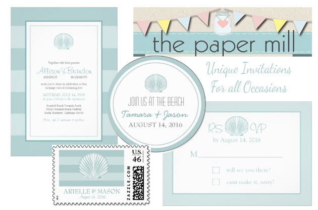 Paper Mill Beach Invites