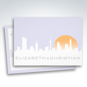 Morning Skyline Reception Only Wedding Invitations