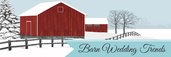 barn wedding trends and invitations