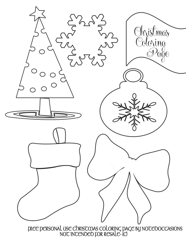 preschool christmas coloring pages # 17