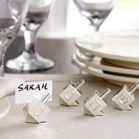 Silver Dreidel Placecards