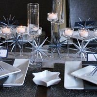 Modern Silver Hanukkah Table Settings