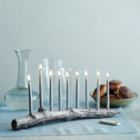 Silver Branch Menorah