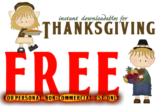Free Downloadable Thanksgiving Decorations
