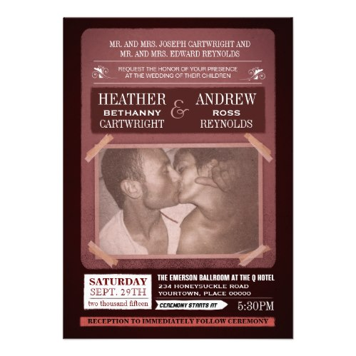 Offbeat Event Poster Photo Wedding Invitation