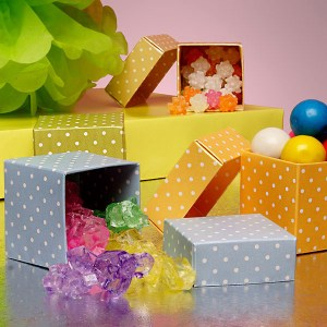 polka dot wedding favor boxes