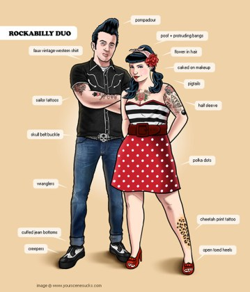 Rockabilly Couple How to do the look