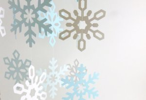Hanging Snowflake Garland Winter Party Decor from Etsy