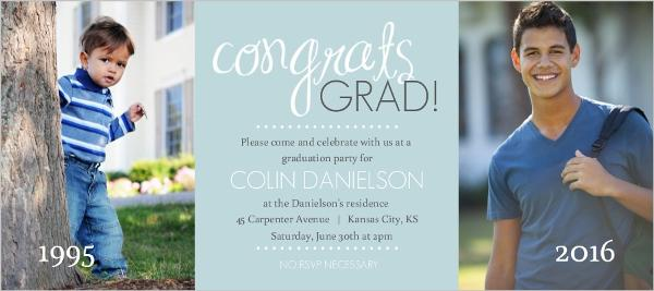 then and now graduation invitation 1