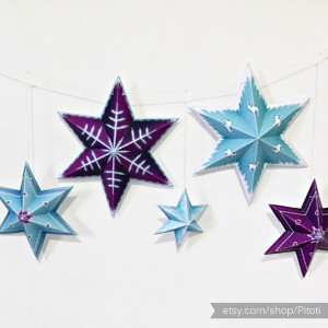 snowflake garland printable
