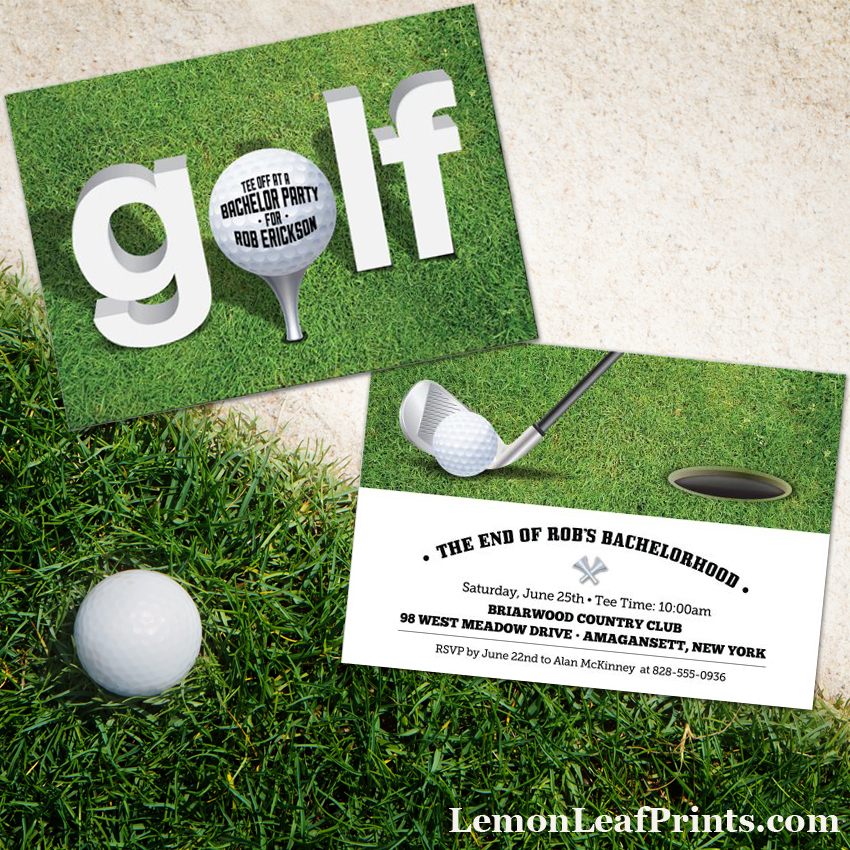 golf bachelor party invitation
