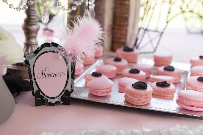 Pink Paris themed party ideas from Karaspartyideas