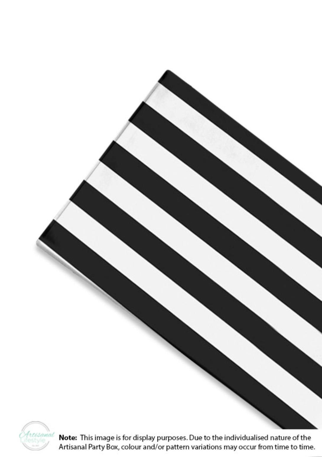 Striped Black Plastic Table Cover Artislifestyle