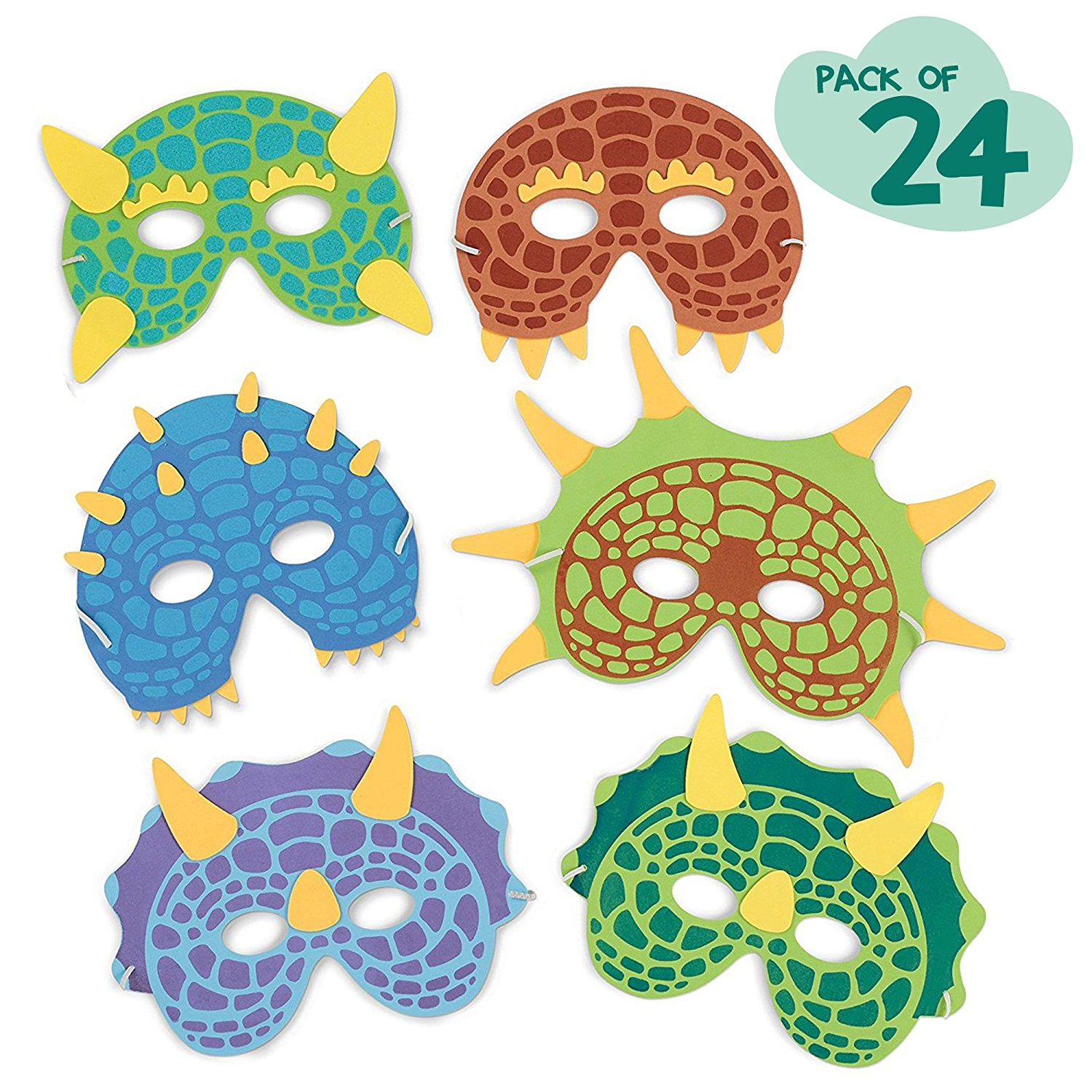 Dinosaur Birthday Party Supplies 24 Dinosaur Party Masks