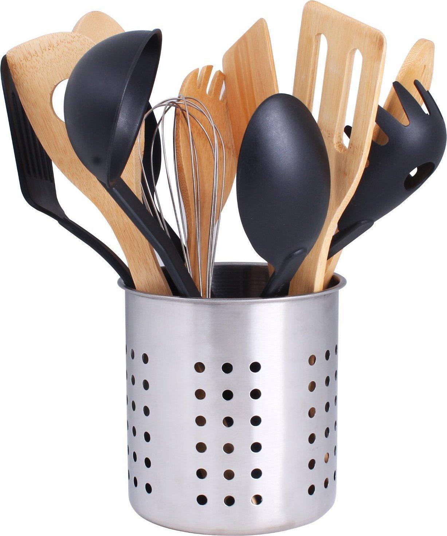 kitchen utensil caddy vintage appliance holder  container cock
