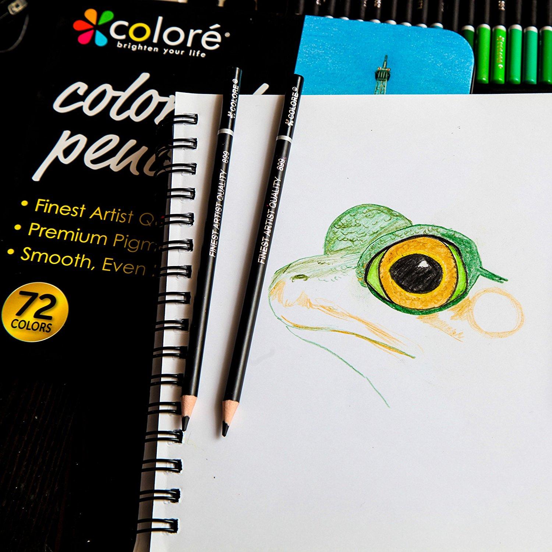 Colore Colored Pencils 72 Premium Pre Sharpened Color