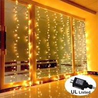 AMARS Safe Voltage Bedroom String LED Curtain Lights ...