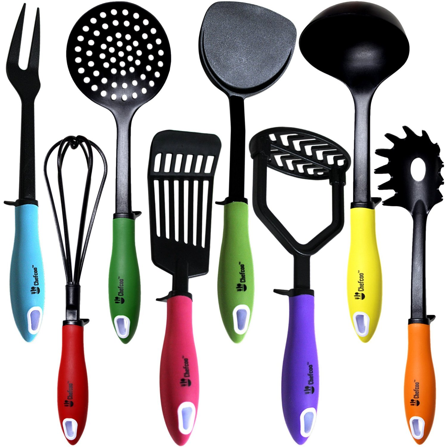 kitchen vessels set estimate for cabinets utensils cooking by chefcoo includes 8 pieces non stick