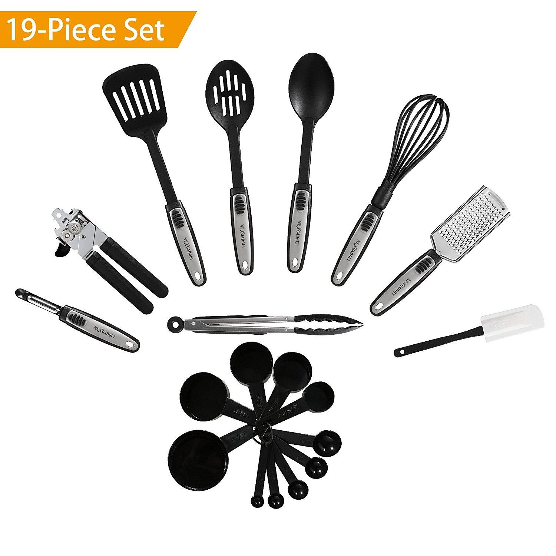kitchen utensil sets replacing sink nexgadget 19 pieces utensils set cooking tools gadgets