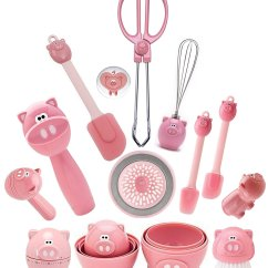 Cute Kitchen Gadgets Americana Decor Joie Oink Set Of 12  Home