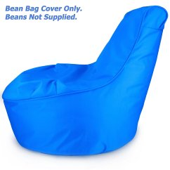 Bean Bag Chair Covers Purple Accent Uk Comfy Kids Cover Only Electric Blue Stain Resistant Tough Waterproof Material Space Saving For Perfect
