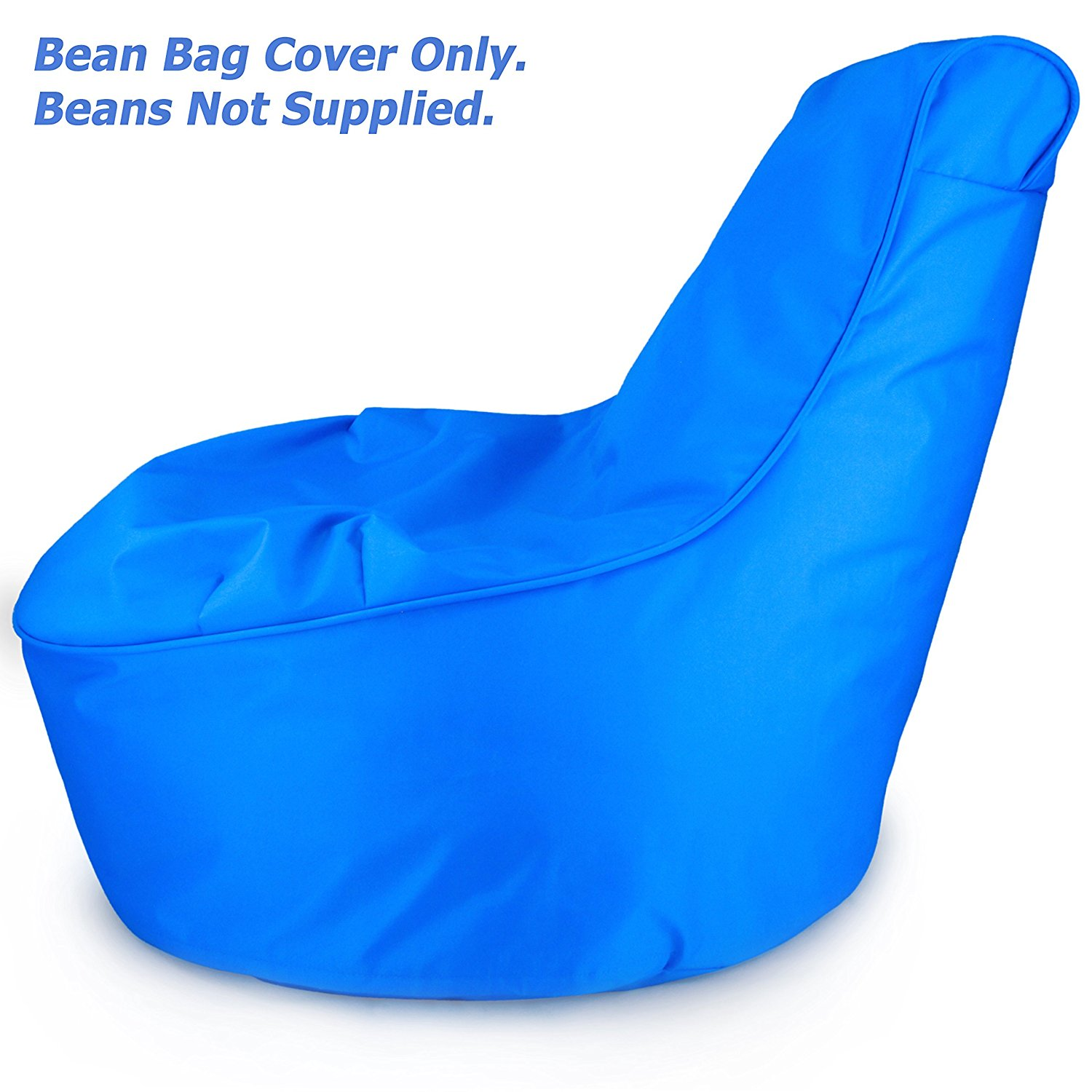 Bean Bag Chair Covers Only Comfy Kids Bean Bag Chair Cover Only Electric Blue Stain Resistant Tough Waterproof Material Space Saving Bean Bag Chair For Kids Perfect Bean