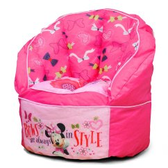 Walmart Minnie Mouse Chair Bath For Disabled Child Disney Toddler Bean Bag Pink
