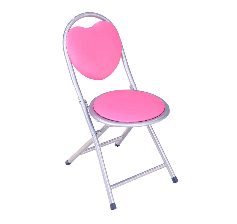 pink folding chair ergonomic training frenchi home furnishing kids metal