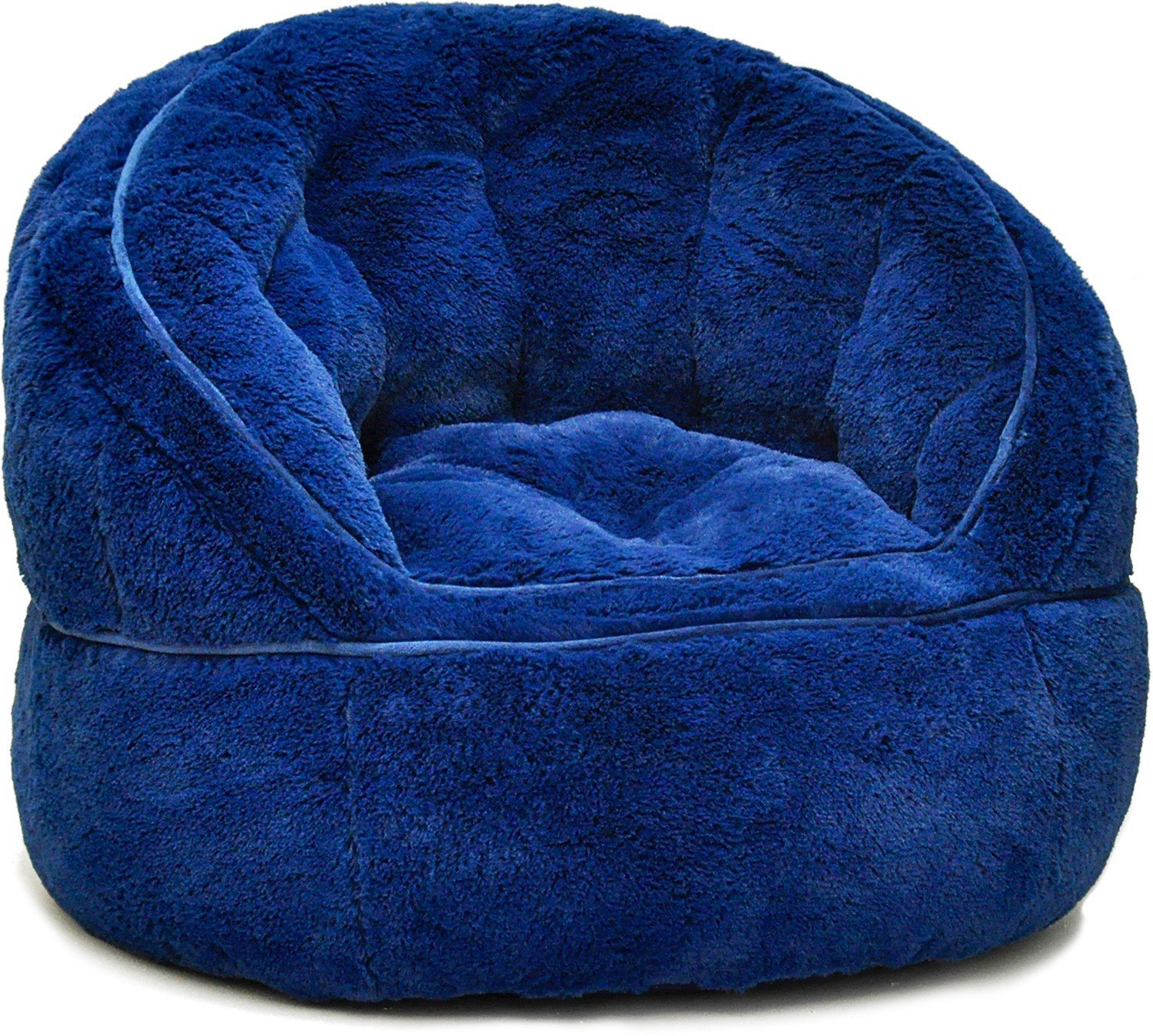 bean bag chair for toddler back pain office cushion heritage kids rabbit fur navy