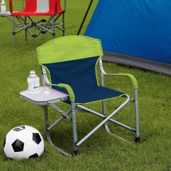 Kids Sports Chairs Tri Fold Lounge Chair Kid S Directors With Away Side Table Great For