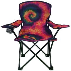 Folding Chair Emoji Chaise Chairs For Living Room Lake And Trail Tie Dye Junior Kids  Party