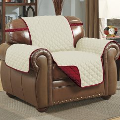 Microfiber Recliner Chair Covers Chromcraft Furniture Kitchen With Wheels Linen Store Quilted Reversible Pet