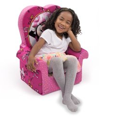 Minnie Mouse Recliner Chair Folding Unicorn Marshmallow Furniture Childrens Foam High Back