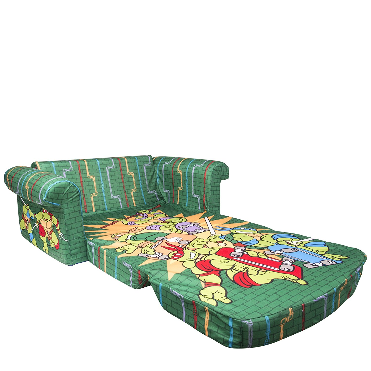 ninja turtles chair dining bench and chairs set marshmallow furniture childrens 2 in 1 flip open foam