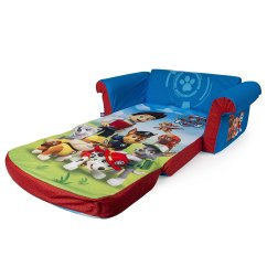 Fold Out Chair Bed Kids Country Cottage Sofas And Chairs Marshmallow Furniture, Children's 2 In 1 Flip Open Foam Sofa, Nickelodeon Paw Patrol, By Spin ...