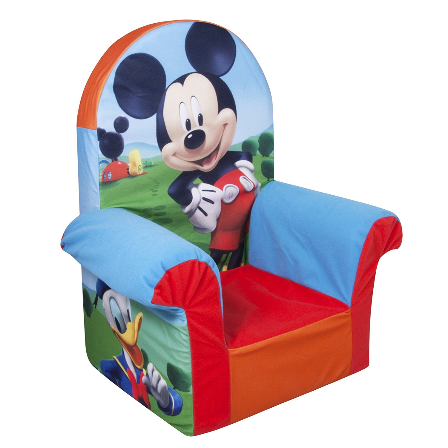 Toddler Foam Chair Marshmallow Furniture Childrens Foam High Back Chair