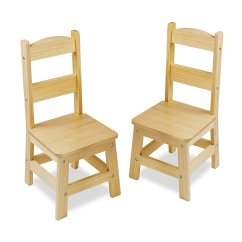 Solid Wood Chairs Swivel Chair Argos Melissa And Doug Set Of 2  Light Finish
