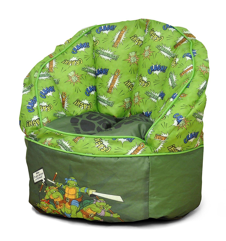 green bean bag chair target stacking chairs nickelodeon teenage mutant ninja turtles toddler