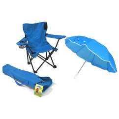 Infant Beach Chair With Umbrella Banquet Size Redmon For Kids Baby Camp Blue