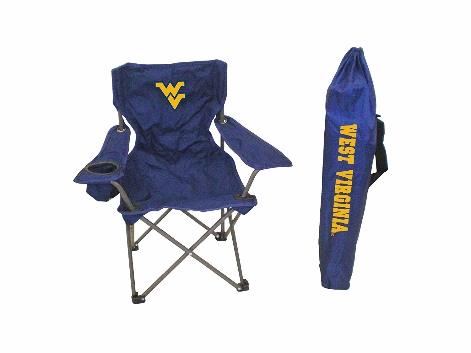 folding junior chair chairs sitting area crossword rivalry ncaa west virginia mountaineers youth