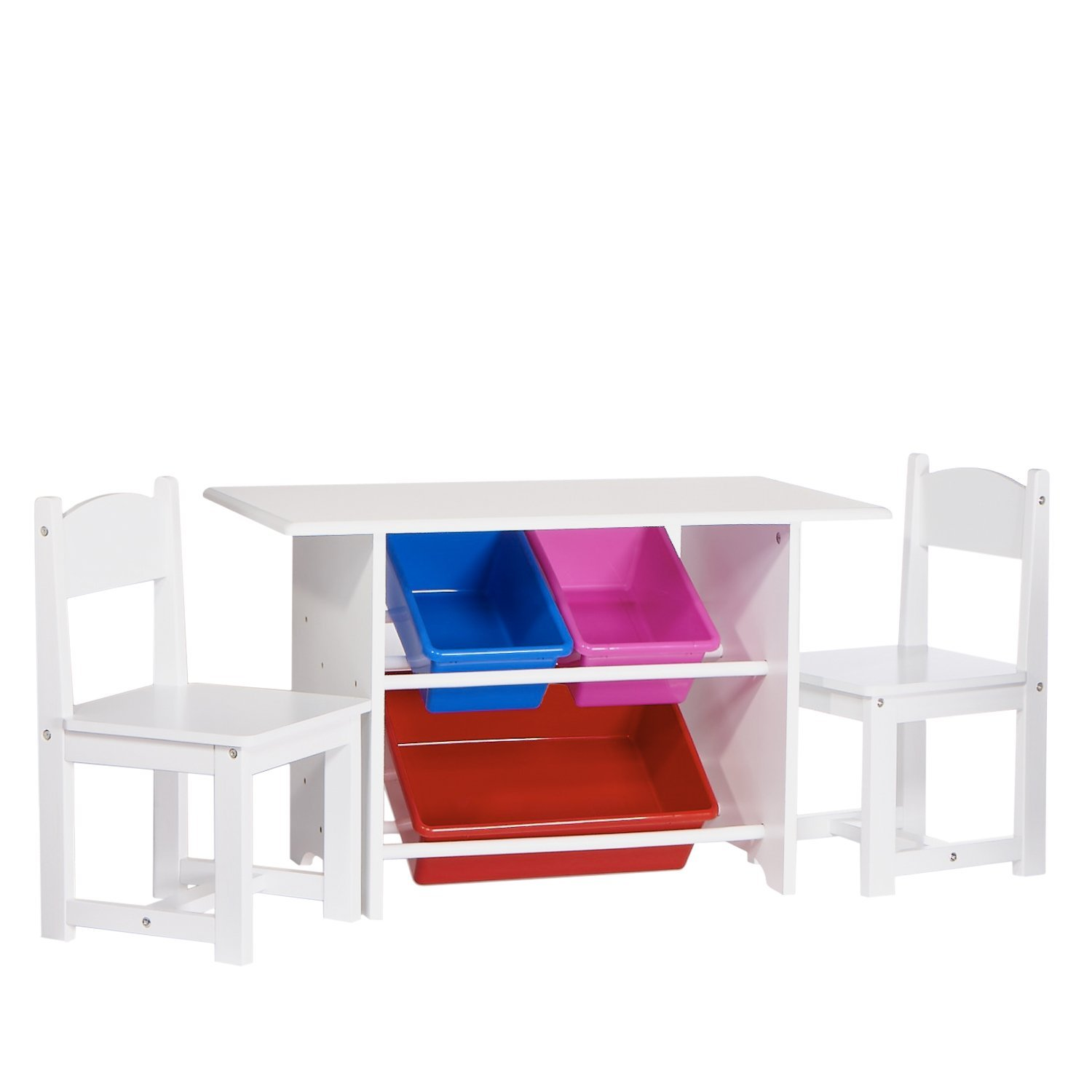 Infant Table And Chairs Riverridge Kids Table With 2 Chairs And 3 Plastic Storage Bins