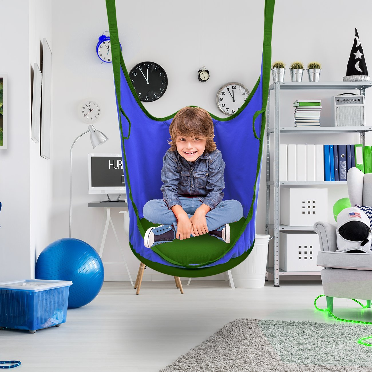 Kids Hanging Chair Sorbus Kids Pod Swing Chair Nook Hanging Seat Hammock