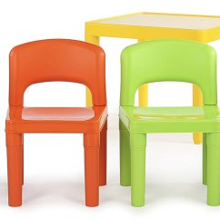 Resin Table And Chairs Set Wood Toddler Tot Tutors Kids Plastic 4 Vibrant Colors