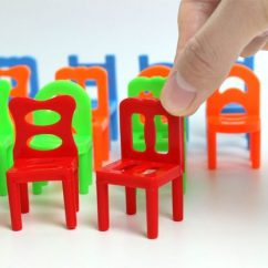 Kids Stackable Chairs Target Sling Chair Tan Vktech 18x Plastic Balance Toy Stacking For Desk Play