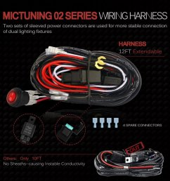 mictuning mic b1002 led light bar wiring  [ 1000 x 1000 Pixel ]