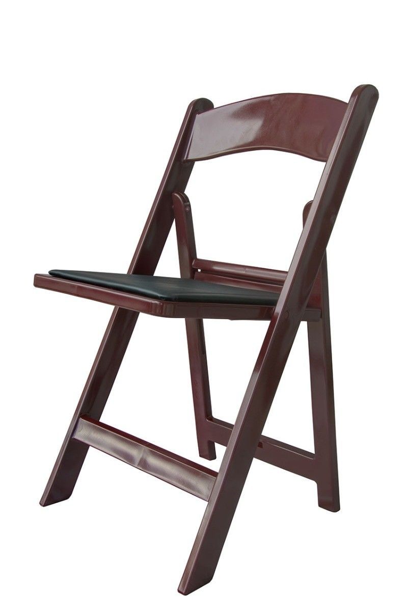 Resin Chairs Mahogany Resin Folding Chairs 4 Pack