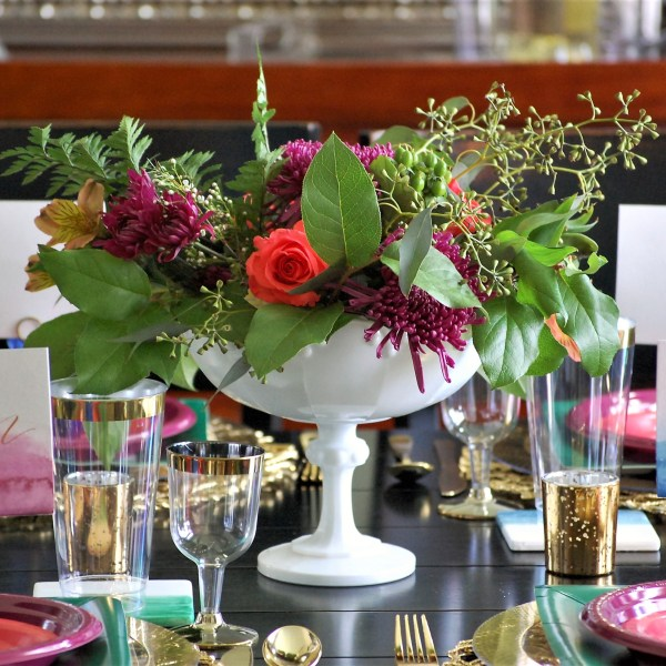 Jewel Toned Wedding Tablescape {Styled Shoot}